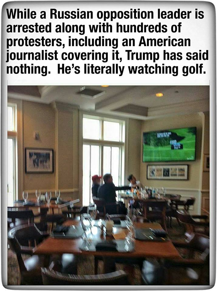 trump watching golf